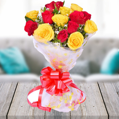 Red Yellow Roses Bunch Delivery Durgapur